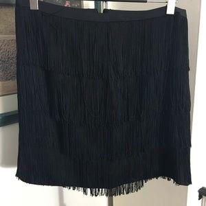 Lauren by Ralph Lauren Addie Fringe Skirt Size 14